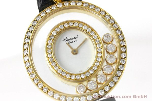 gebrauchte Luxusuhr Chopard Happy Diamonds 18k Gold Quarz Kal. ETA 201.001  | 152292 02