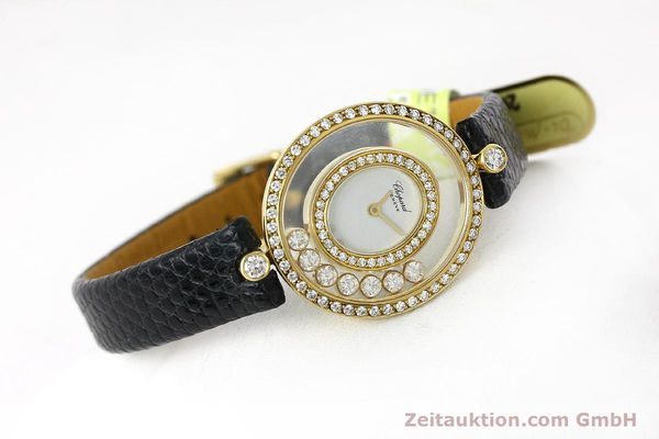 gebrauchte Luxusuhr Chopard Happy Diamonds 18k Gold Quarz Kal. ETA 201.001  | 152292 03