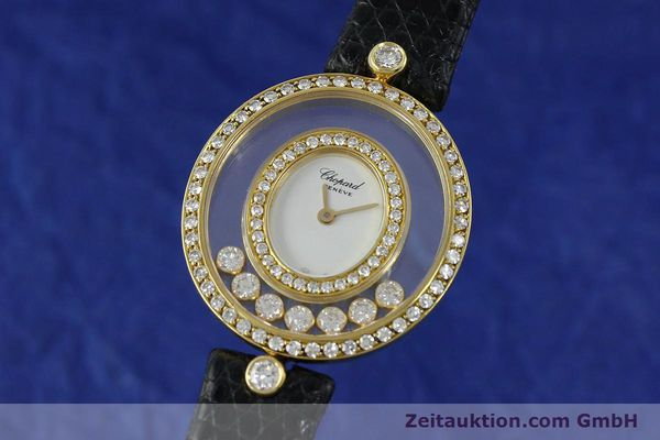 gebrauchte Luxusuhr Chopard Happy Diamonds 18k Gold Quarz Kal. ETA 201.001  | 152292 04