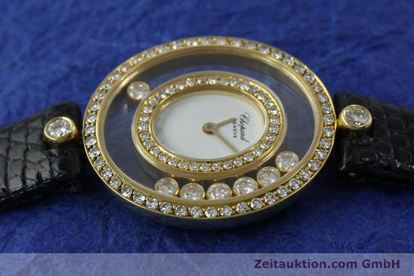 gebrauchte Luxusuhr Chopard Happy Diamonds 18k Gold Quarz Kal. ETA 201.001  | 152292 05