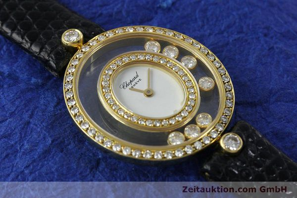 gebrauchte Luxusuhr Chopard Happy Diamonds 18k Gold Quarz Kal. ETA 201.001  | 152292 10