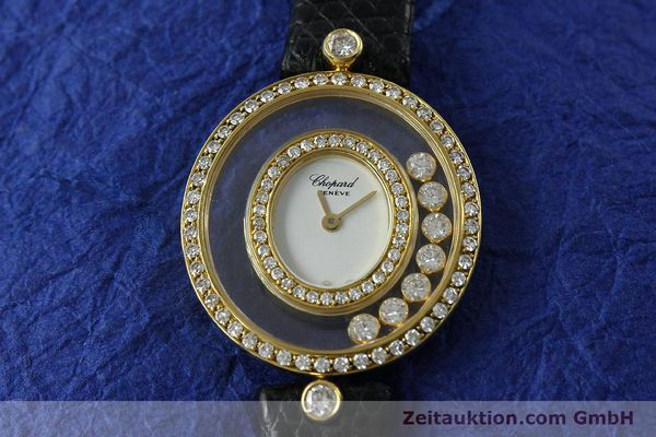 gebrauchte Luxusuhr Chopard Happy Diamonds 18k Gold Quarz Kal. ETA 201.001  | 152292 11
