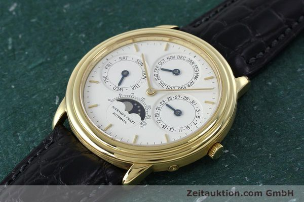 Used luxury watch Audemars Piguet Ewiger Kalender 18 ct gold automatic Kal. 2120/2 Ref. C75742  | 152293 01
