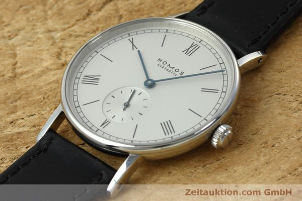 Used luxury watch Nomos Ludwig steel manual winding Kal. Alpha 40913  | 152302 01