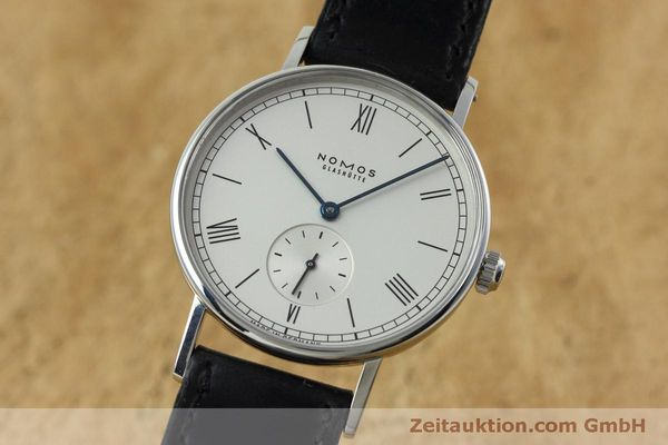 Used luxury watch Nomos Ludwig steel manual winding Kal. Alpha 40913  | 152302 04