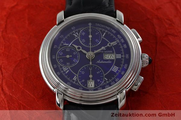 Used luxury watch Maurice Lacroix Croneo chronograph steel automatic Kal. ML 67 ETA 7750 Ref. 7006  | 152304 14