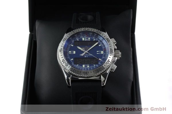 Used luxury watch Breitling B1 chronograph steel quartz Kal. B68 ETA E20.331 Ref. A68362  | 152309 07