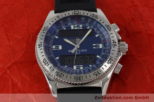 Used luxury watch Breitling B1 chronograph steel quartz Kal. B68 ETA E20.331 Ref. A68362  | 152309 13