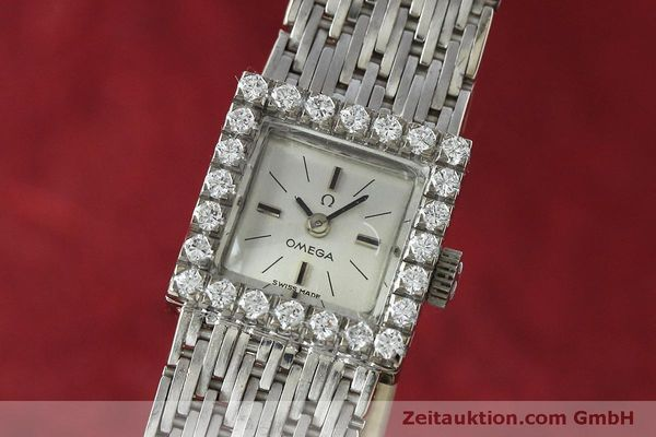 Used luxury watch Omega * 18 ct white gold manual winding Kal. 650 Ref. 8096  | 152316 04