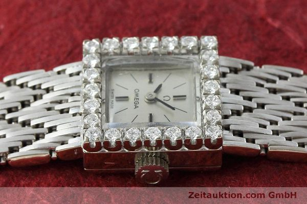 Used luxury watch Omega * 18 ct white gold manual winding Kal. 650 Ref. 8096  | 152316 05