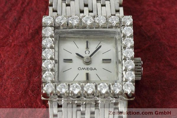 Used luxury watch Omega * 18 ct white gold manual winding Kal. 650 Ref. 8096  | 152316 16