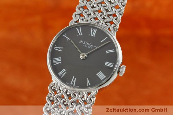Used luxury watch Chopard * 18 ct white gold manual winding Kal. Felsa 4130  | 152317 04