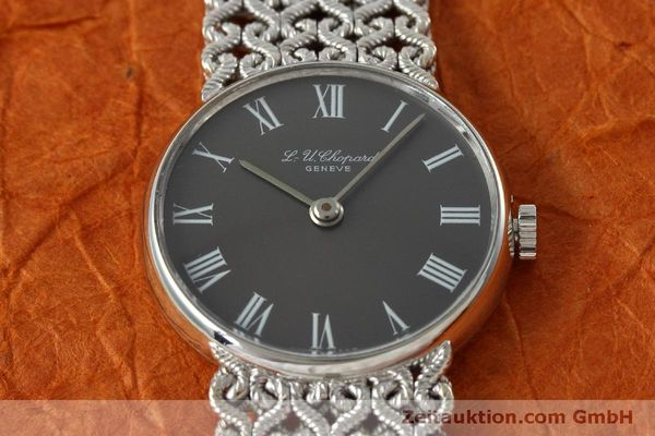 Used luxury watch Chopard * 18 ct white gold manual winding Kal. Felsa 4130  | 152317 16