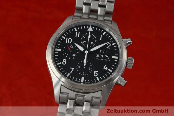 Used luxury watch IWC Fliegerchronograph chronograph steel automatic Kal. 79320 Ref. IW371704 / 3717  | 152322 04