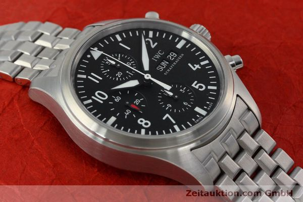 Used luxury watch IWC Fliegerchronograph chronograph steel automatic Kal. 79320 Ref. IW371704 / 3717  | 152322 17
