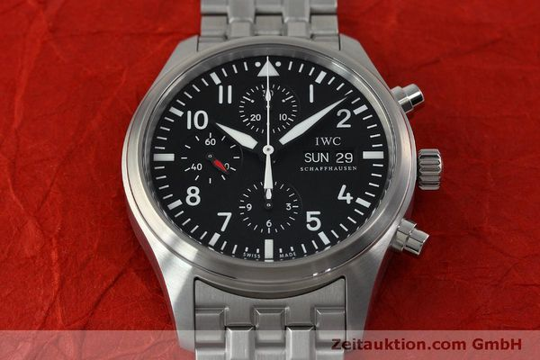 Used luxury watch IWC Fliegerchronograph chronograph steel automatic Kal. 79320 Ref. IW371704 / 3717  | 152322 18