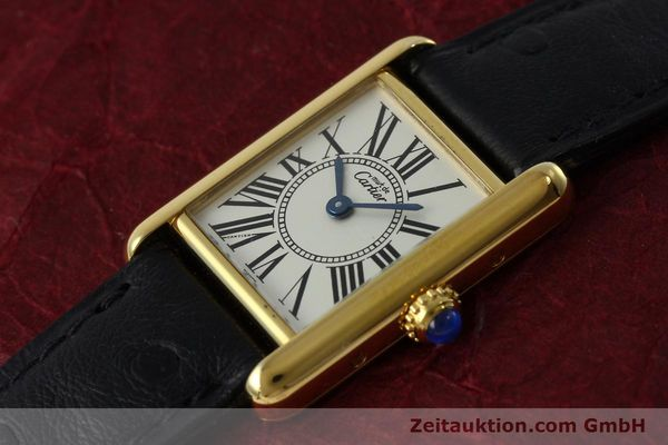Used luxury watch Cartier Tank silver-gilt quartz Kal. 057  | 152327 01