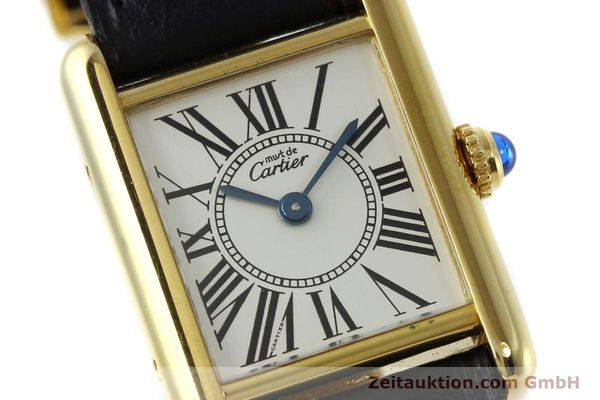Used luxury watch Cartier Tank silver-gilt quartz Kal. 057  | 152327 02