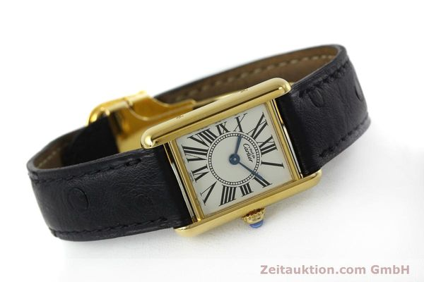 Used luxury watch Cartier Tank silver-gilt quartz Kal. 057  | 152327 03