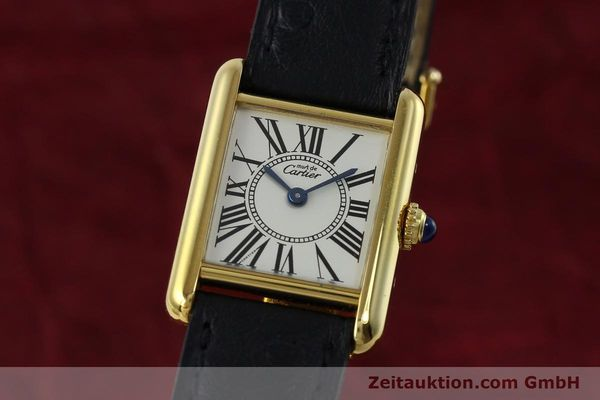 Used luxury watch Cartier Tank silver-gilt quartz Kal. 057  | 152327 04