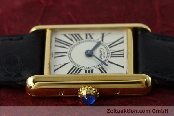 Used luxury watch Cartier Tank silver-gilt quartz Kal. 057  | 152327 05