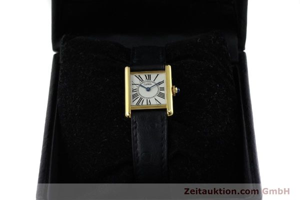 Used luxury watch Cartier Tank silver-gilt quartz Kal. 057  | 152327 07