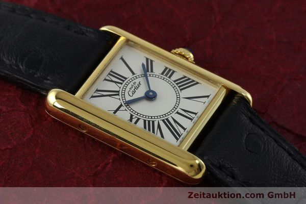 Used luxury watch Cartier Tank silver-gilt quartz Kal. 057  | 152327 12