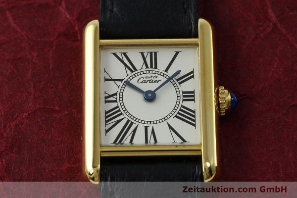 Used luxury watch Cartier Tank silver-gilt quartz Kal. 057  | 152327 13