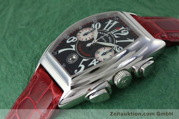 Used luxury watch Franck Muller Conquistador chronograph steel automatic Kal. 1185 C02 Ref. 8005CC  | 152329 01
