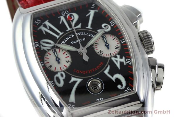 Used luxury watch Franck Muller Conquistador chronograph steel automatic Kal. 1185 C02 Ref. 8005CC  | 152329 02