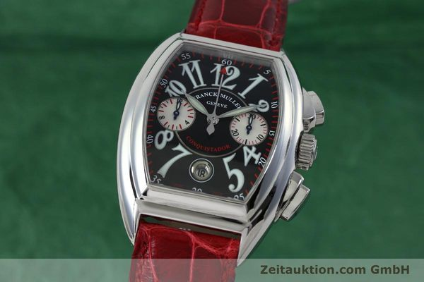 Used luxury watch Franck Muller Conquistador chronograph steel automatic Kal. 1185 C02 Ref. 8005CC  | 152329 04