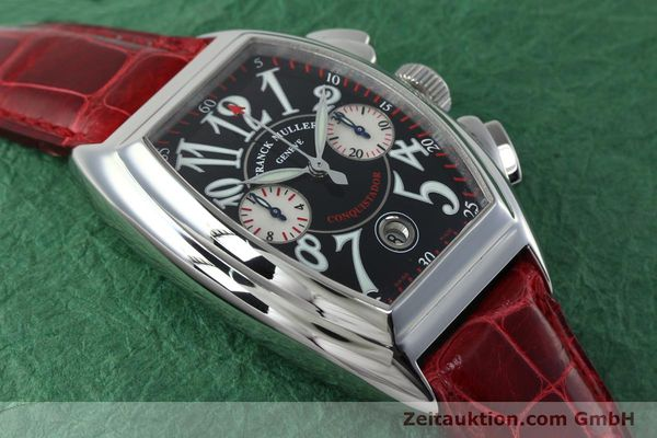 Used luxury watch Franck Muller Conquistador chronograph steel automatic Kal. 1185 C02 Ref. 8005CC  | 152329 13