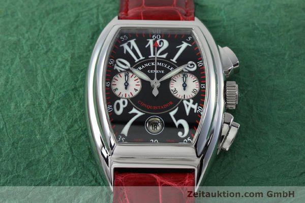 Used luxury watch Franck Muller Conquistador chronograph steel automatic Kal. 1185 C02 Ref. 8005CC  | 152329 14