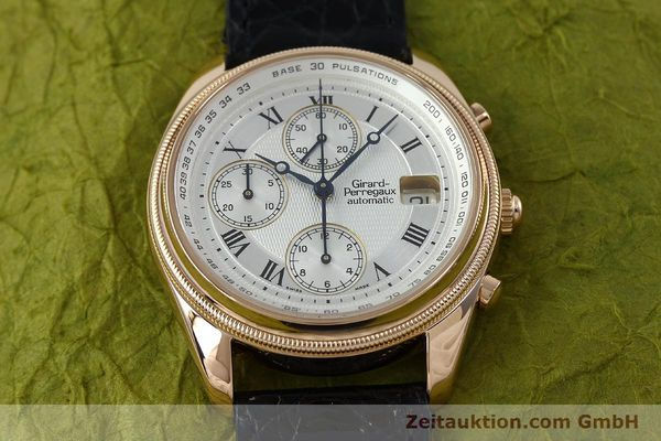 montre de luxe d occasion Girard Perregaux GP 4900 chronographe or 18 ct automatique Kal. 8000-464 Ref. 4900  | 152336 17