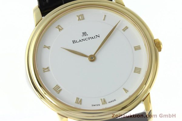 Used luxury watch Blancpain Villeret 18 ct gold manual winding Kal. 21  | 152343 02