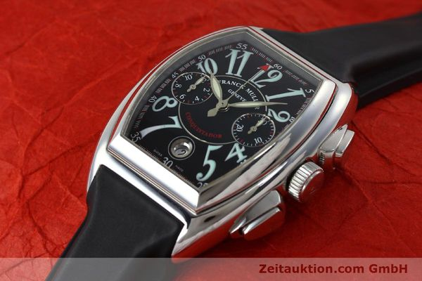 Used luxury watch Franck Muller Conquistador chronograph steel automatic Kal. 1185  | 152346 01