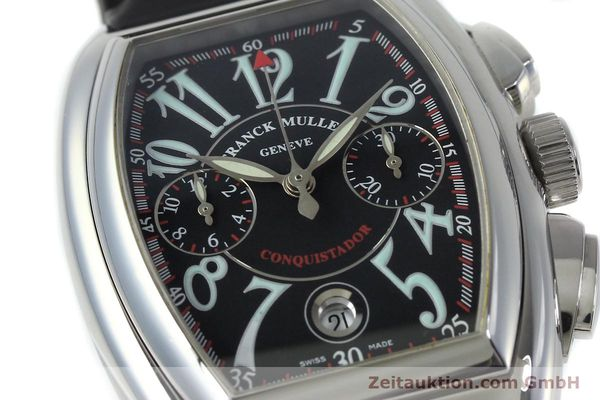Used luxury watch Franck Muller Conquistador chronograph steel automatic Kal. 1185  | 152346 02