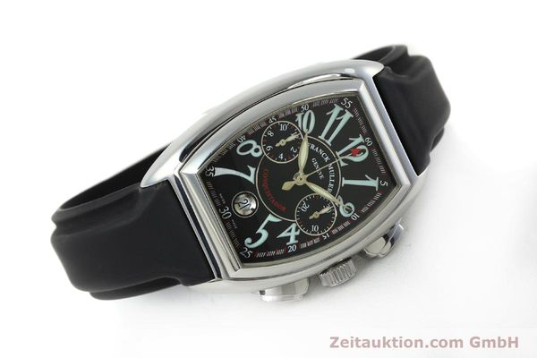 Used luxury watch Franck Muller Conquistador chronograph steel automatic Kal. 1185  | 152346 03