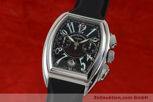 Used luxury watch Franck Muller Conquistador chronograph steel automatic Kal. 1185  | 152346 04
