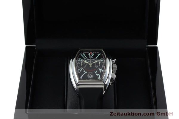 Used luxury watch Franck Muller Conquistador chronograph steel automatic Kal. 1185  | 152346 07