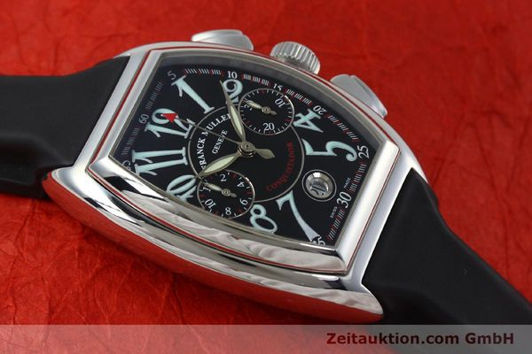Used luxury watch Franck Muller Conquistador chronograph steel automatic Kal. 1185  | 152346 12