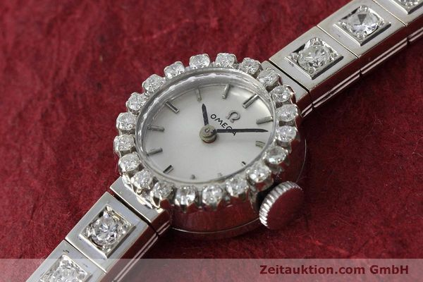 Used luxury watch Omega * 18 ct white gold manual winding Kal. 484 VINTAGE  | 152355 01