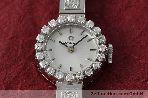 Used luxury watch Omega * 18 ct white gold manual winding Kal. 484 VINTAGE  | 152355 14