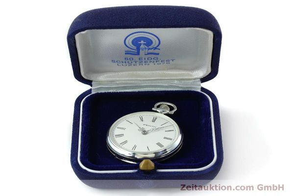 Used luxury watch Zenith Taschenuhr silver manual winding Kal. 2320  | 152356 07