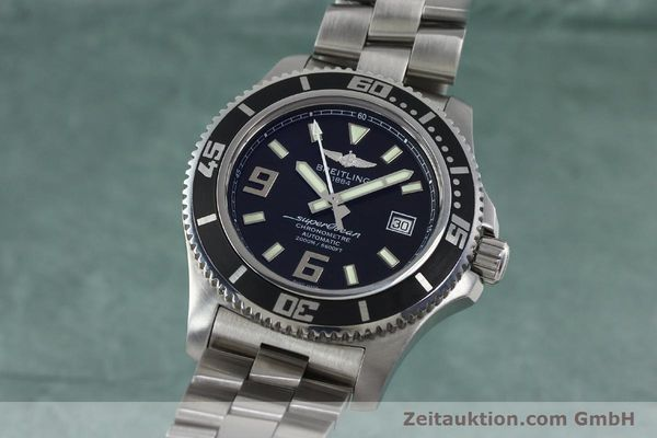 Used luxury watch Breitling Superocean steel automatic Kal. B17 ETA 2824-2 Ref. A17391  | 152372 04