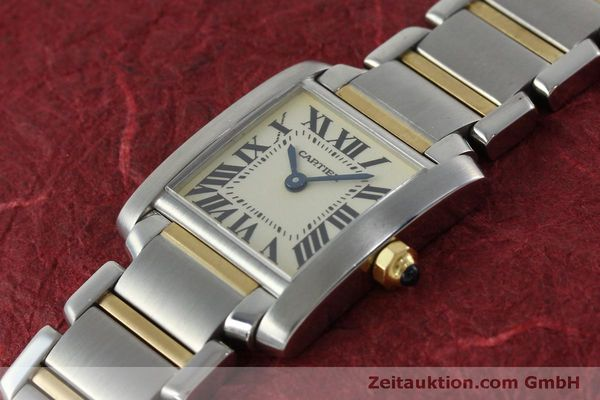 Used luxury watch Cartier Tank Francaise steel / gold quartz Kal. 016 Eta 281002 Ref. 2300  | 152387 01