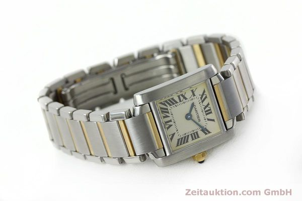 Used luxury watch Cartier Tank Francaise steel / gold quartz Kal. 016 Eta 281002 Ref. 2300  | 152387 03