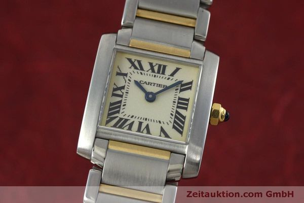 Used luxury watch Cartier Tank Francaise steel / gold quartz Kal. 016 Eta 281002 Ref. 2300  | 152387 04