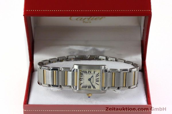 Used luxury watch Cartier Tank Francaise steel / gold quartz Kal. 016 Eta 281002 Ref. 2300  | 152387 07