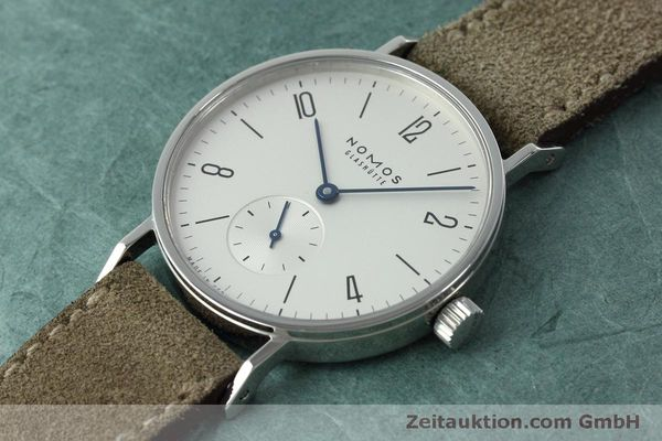 Used luxury watch Nomos Tangente steel manual winding Kal. Alpha 92474  | 152393 01